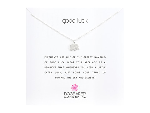 Dogeared Good Luck Elephant Reminder Necklace - Sterling Silver