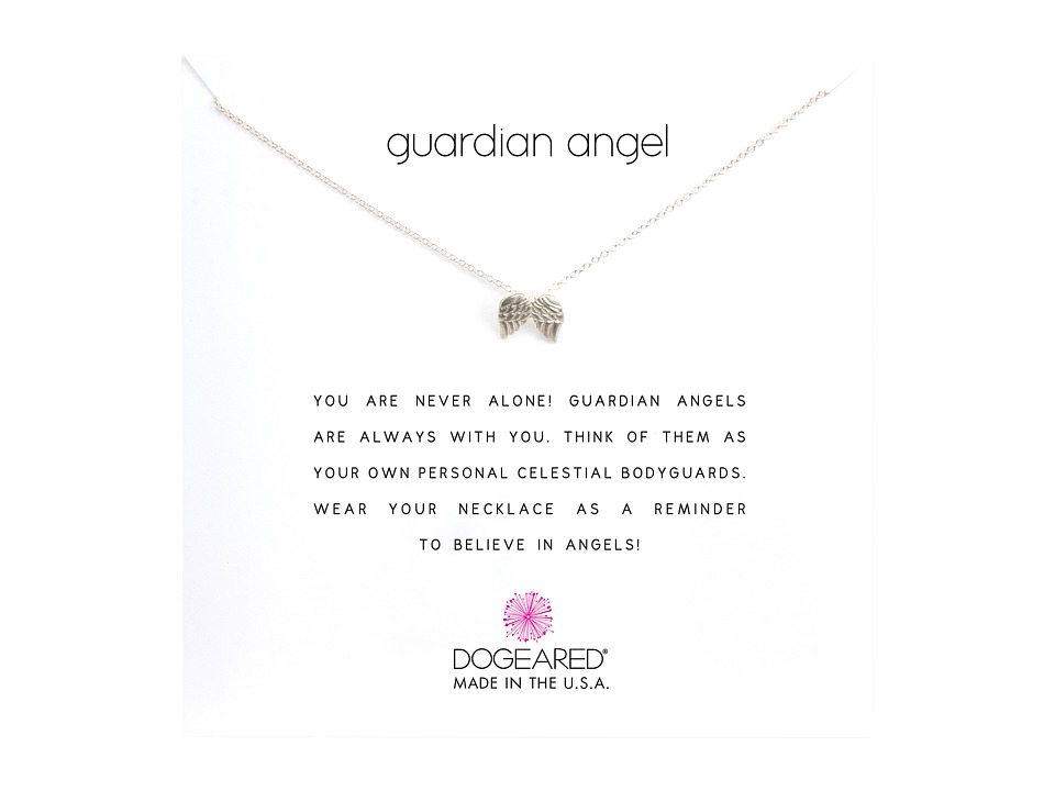 Dogeared Guardian Angel Reminder Necklace (Sterling Silve...