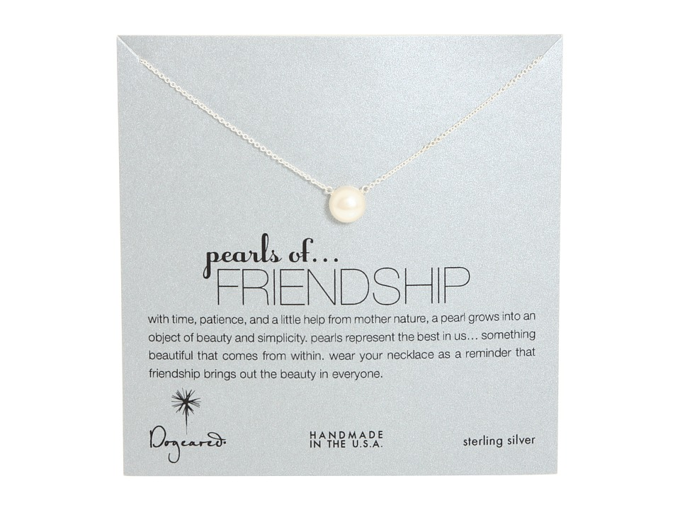 Dogeared - Pearls of Friendship Necklace (Sterling Silver) Necklace