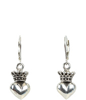 King Baby Studio - Crowned Heart Lever Back Earrings