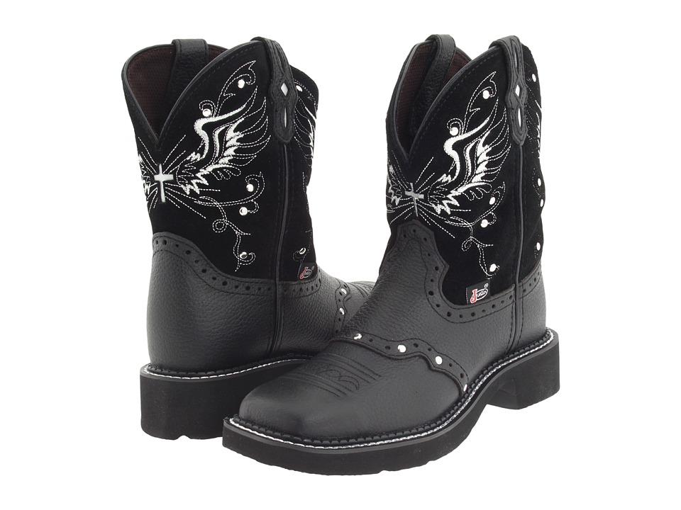 Justin - Mandra (Black Suede) Cowboy Boots