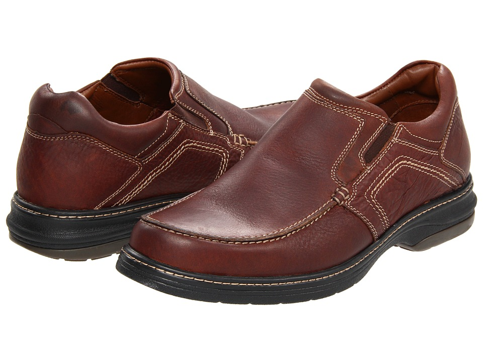 Johnston amp Murphy Colvard Venetian Mahogany Waterproof Full Grain Leather Mens Slip on Shoes