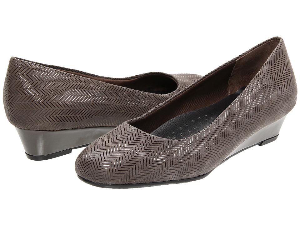 Trotters - Lauren (Dark Grey Suede Patent Leather) Women