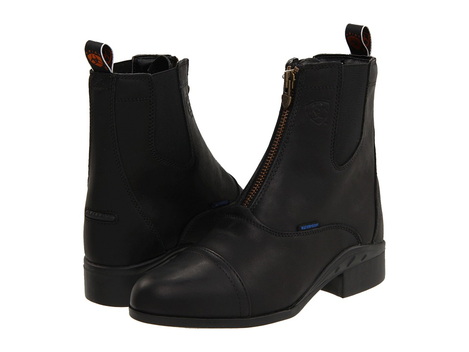 Ariat - Heritage III Zip Paddock H20 Black Womens Boots $139.95 AT vintagedancer.com