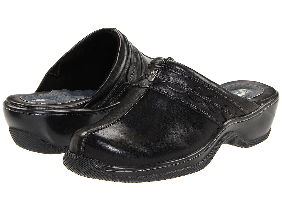 SoftWalk Abby (Black) Women's Clog/Mule Shoes
