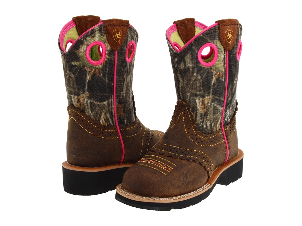 Ariat Kids - Fatbaby Cowgirl (Toddler/Little Kid/Big Kid) (Rough Brown/Mossy Oak) Girl