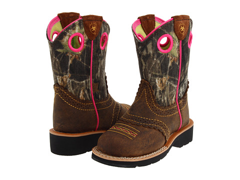 Ariat Kids Fatbaby Cowgirl (Toddler/Little Kid/Big Kid) - Rough Brown/Mossy Oak