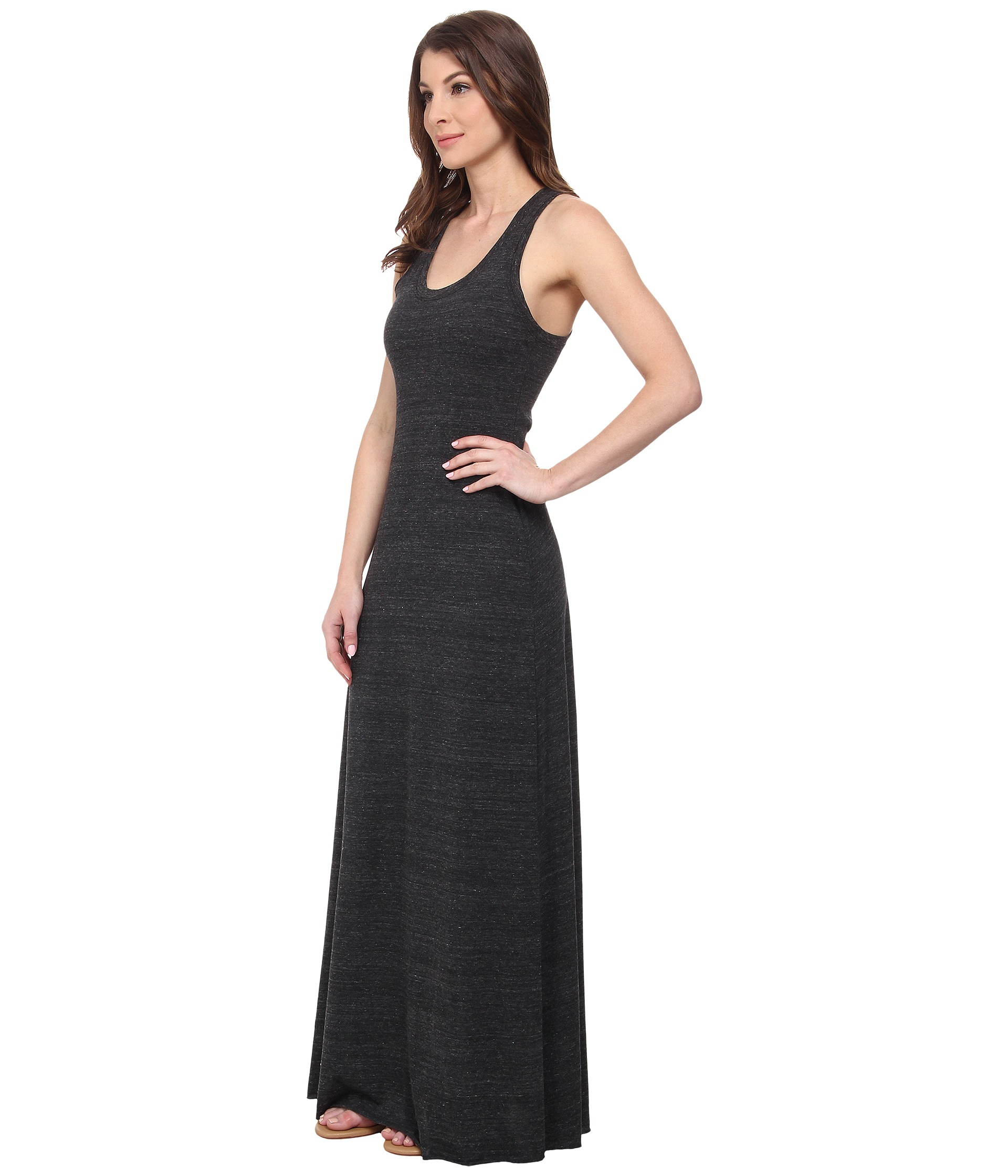 Cotton racerback maxi dress