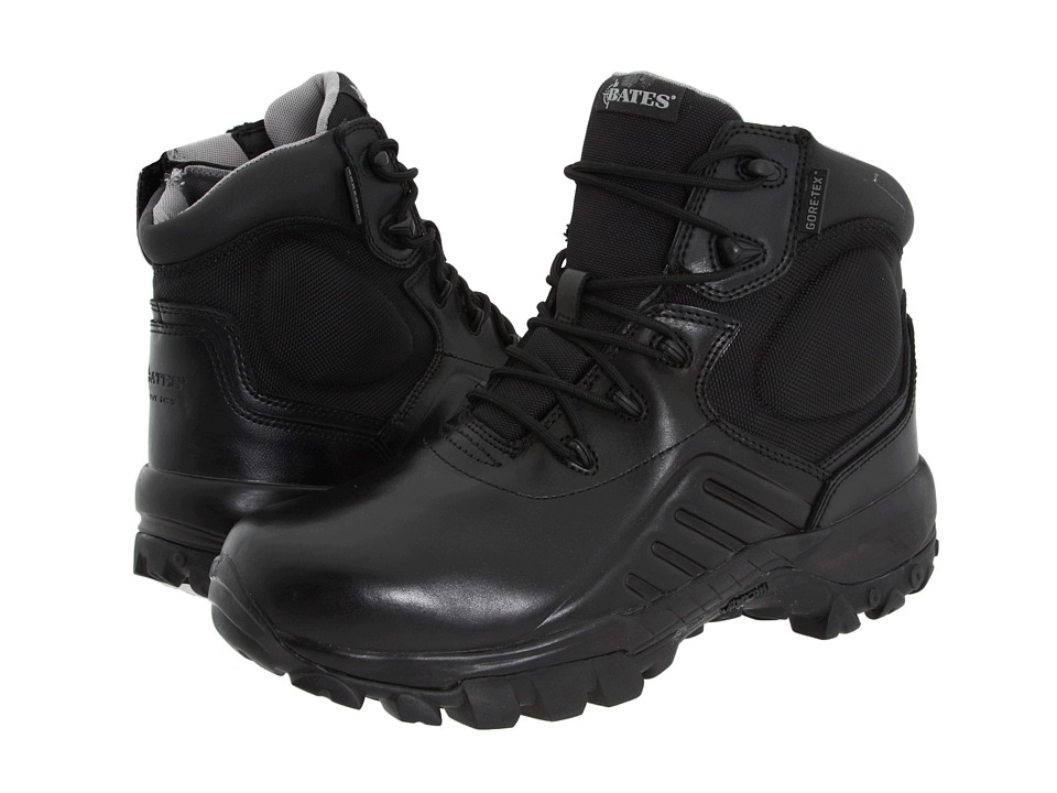 Bates Footwear Delta 6 Gore Tex Side Zip Black Mens Work Boots