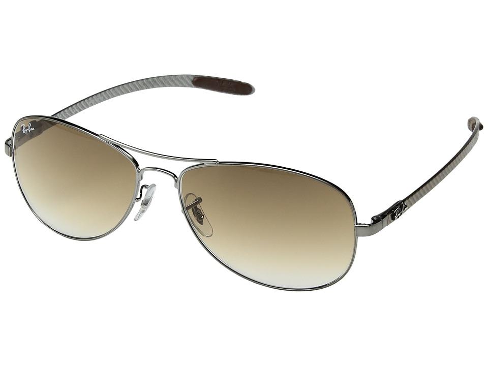 Ray-Ban RB8301 (Gunmetal/Crystal Brown Gradient) Metal Frame Fashion Sunglasses