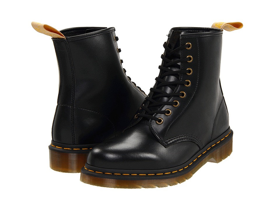 Dr. Martens 1460 Vegan 8 Eye Boot Black Lace up Boots