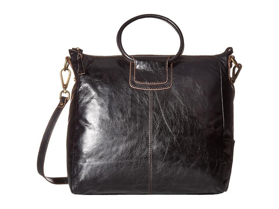 Hobo Sheila (Black Vintage Leather) Tote Handbags