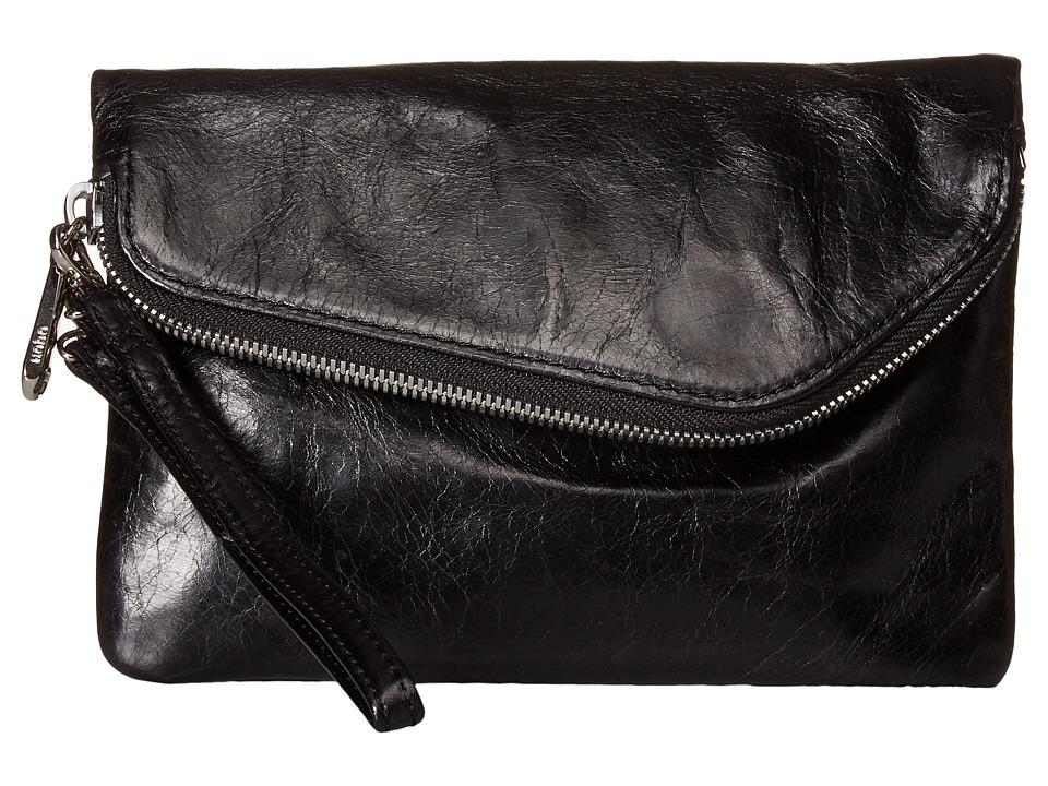 Hobo - Daria (Black Vintage Leather) Clutch Handbags