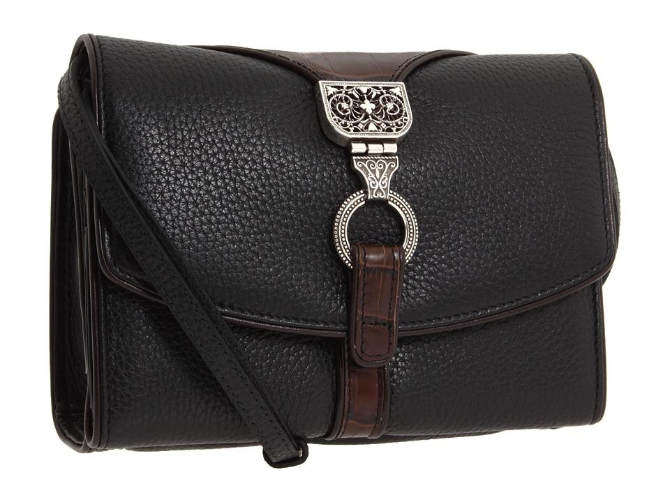 Brighton - Nepal Organizer (Black/Chocolate) Wallet Handbags