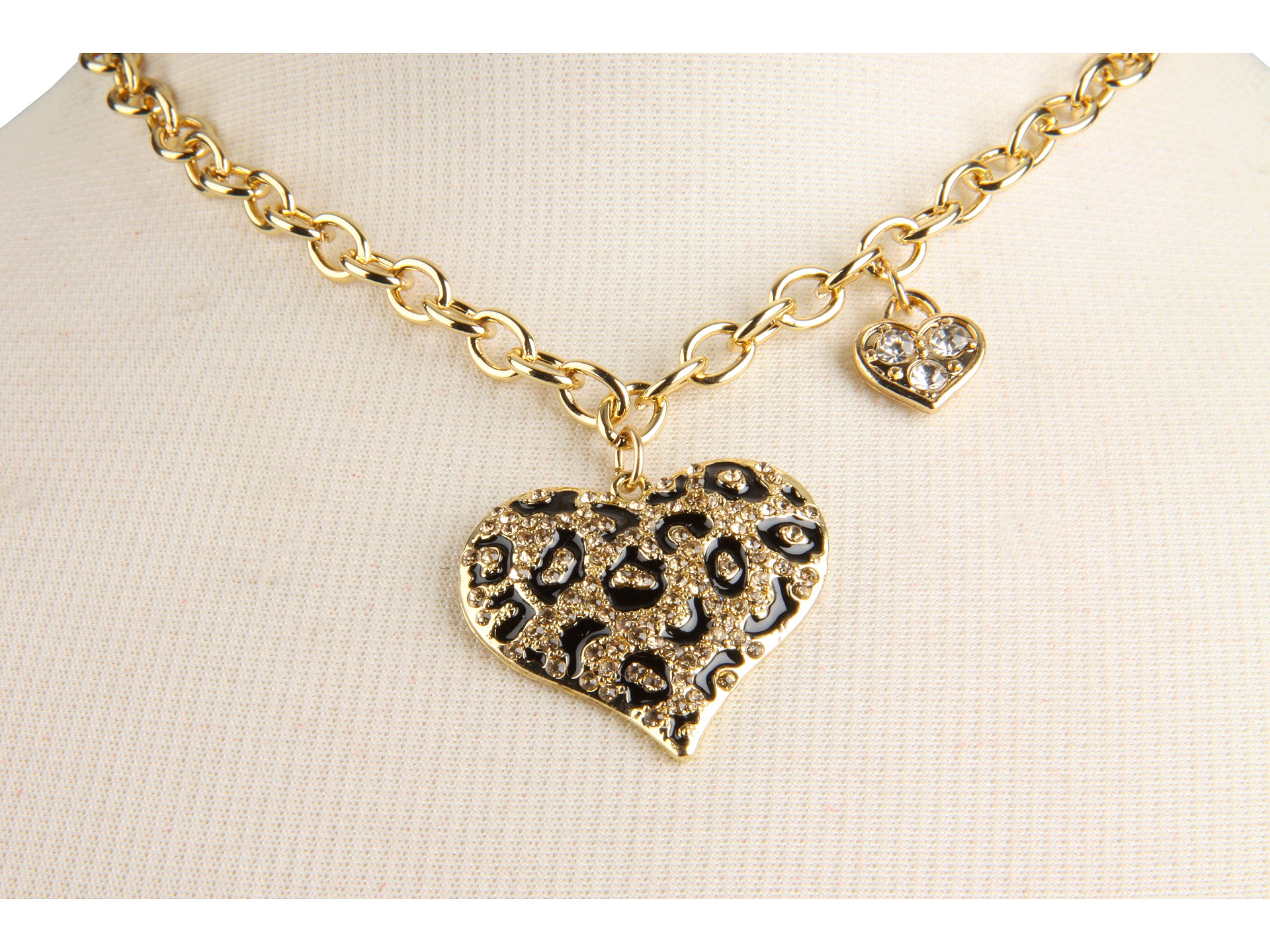 guess guess animal print necklace at