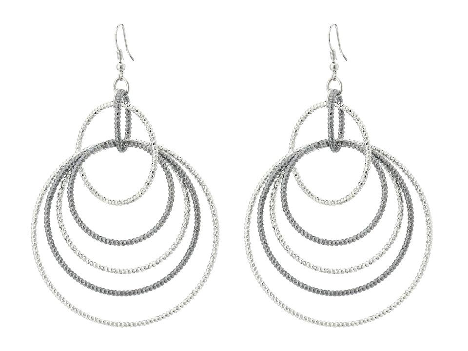 GUESS - Anyones Guess Multi Linked Hoop Earrings (Multi) Earring