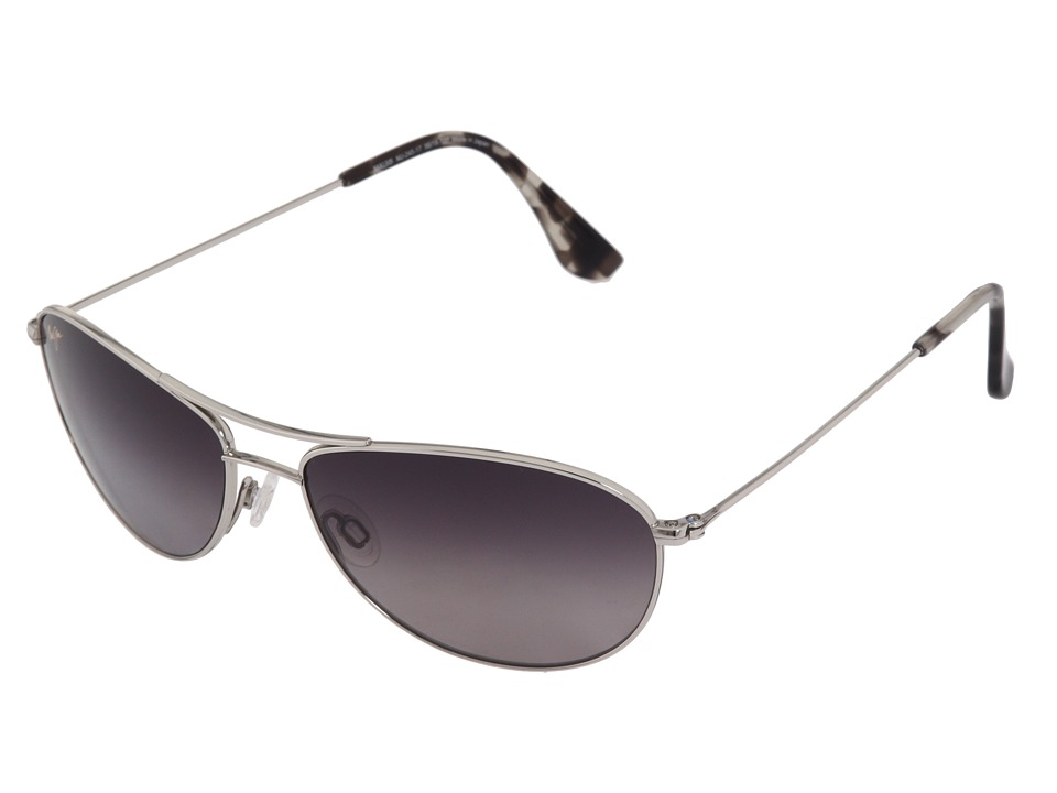 Maui Jim Baby Beach Silver/Neutral GrayLens Sport Sunglasses