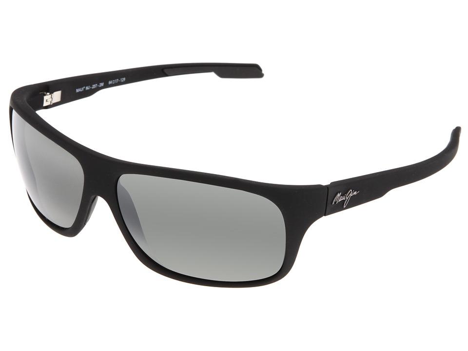 Maui Jim Island Time Matte Black Rubber/Neutral Grey Lens Sport Sunglasses