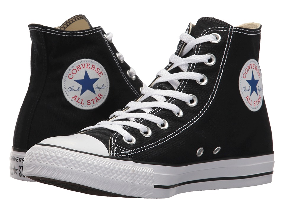 1950s Style Shoes Converse Chuck Taylorr All Starr Core Hi Black Classic Shoes $54.99 AT vintagedancer.com