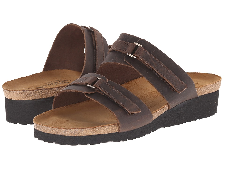 Naot Footwear Carly (Crazy Horse Leather) Sandals