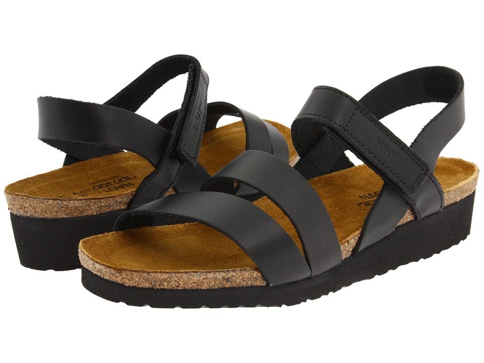 Naot Footwear Kayla (Black Matte Leather) Sandals