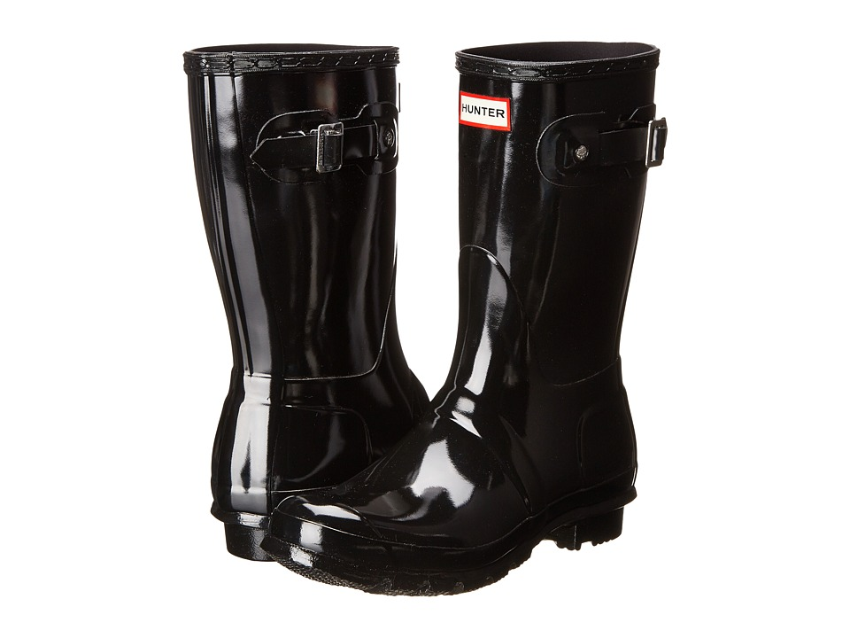 Hunter Original Short Gloss Rain Boots (Black) Women