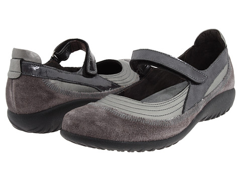Naot Footwear Kirei - Sterling Leather/Gray Suede/Gray Patent Leather