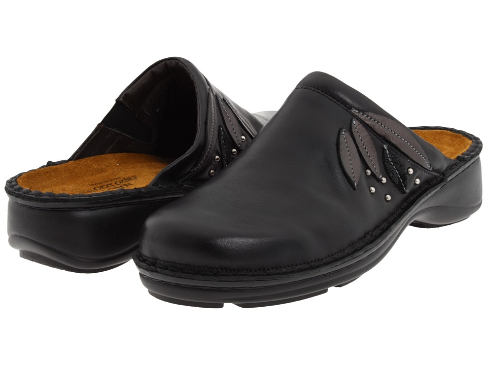 Naot Anise (Black Madras Leather/Metallic Road Leather/Black Lace Nubuck) Women