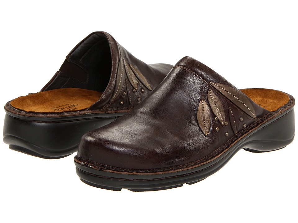 Naot Anise (Oak Leather/Antique Copper Leather/Brown Shimmer Nubuck) Women