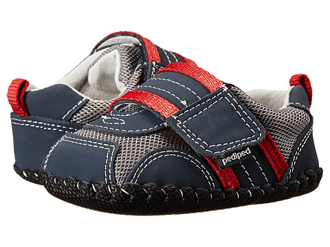 pediped Adrian Original (Infant) - Navy/Grey/Red