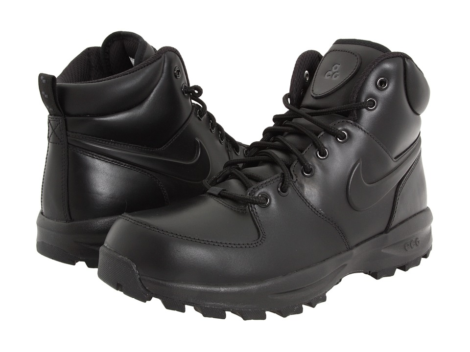 Nike - Manoa Leather (Black/Black/Black) Men