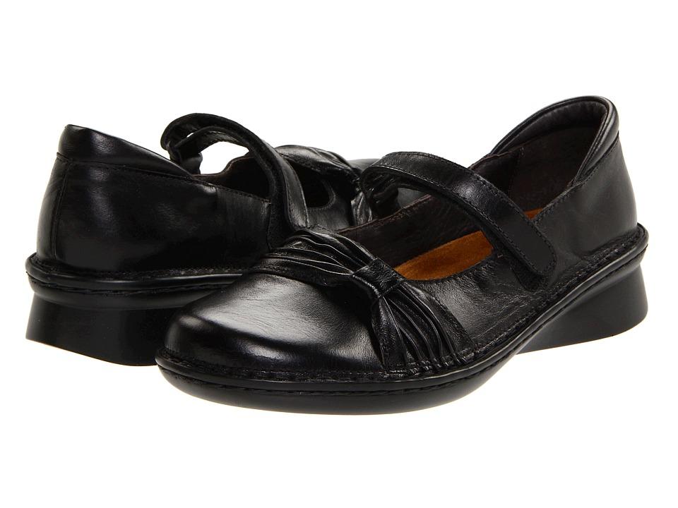 Naot Tone (Black Madras Leather/Black Gloss Leather) Wome...