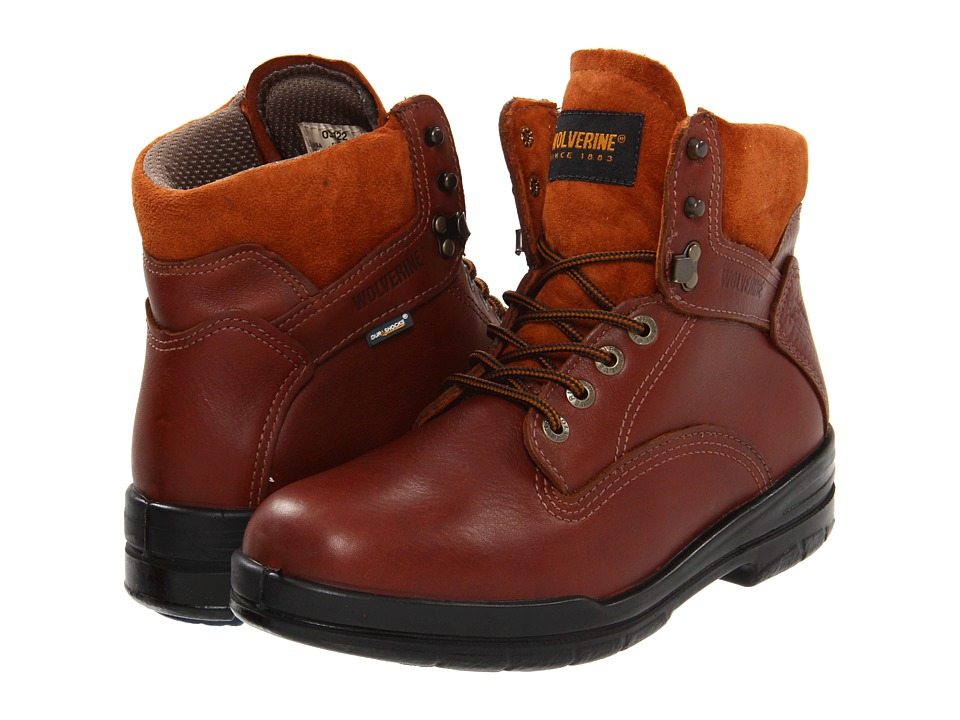 Wolverine 6 DuraShocks SR Boot (Brown) Men