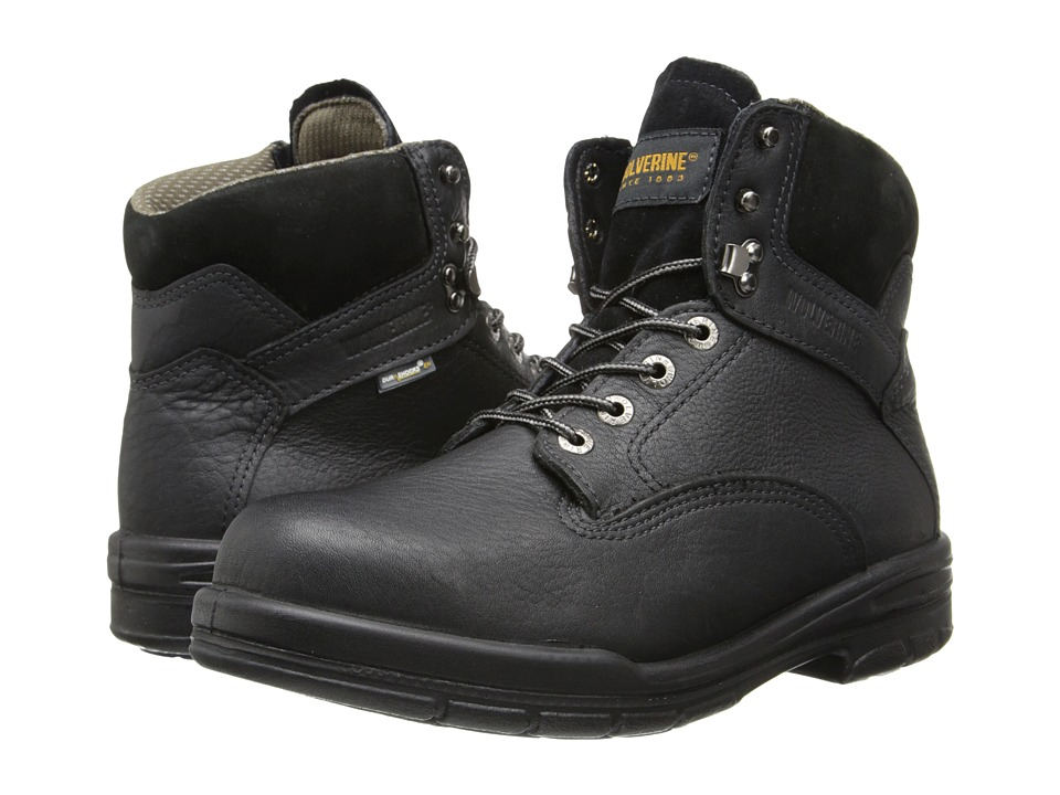 Wolverine 6 DuraShocks SR Steel-Toe Boot (Black) Men