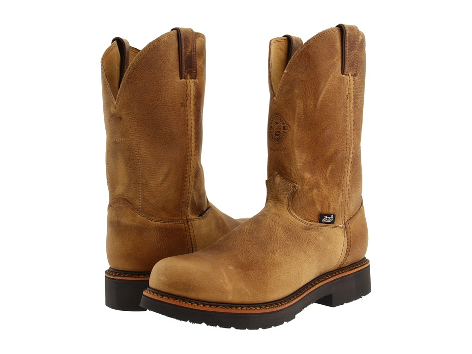 Justin - Blueprint 11 Pullon Work Boot (Rugged Tan Gaucho) Mens Work Boots