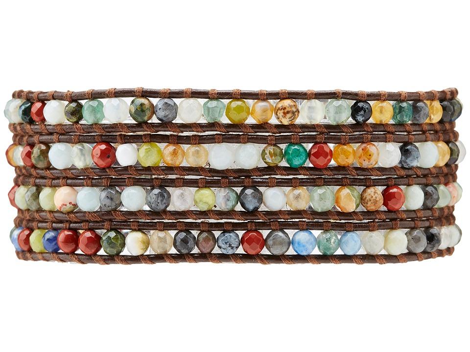 Chan Luu - Semiprecious Stone Wrap Bracelet (Multi) Bracelet