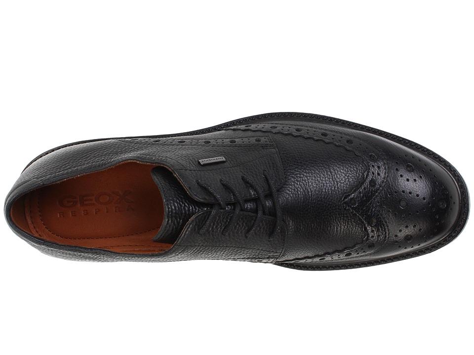 geox男士时尚典雅牛皮镂花系带牛津商务正装皮鞋