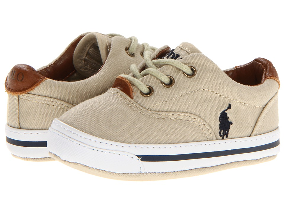 Polo Ralph Lauren Kids - Vaughn Soft Sole (Infant/Toddler) (Khaki Canvas) Boys Shoes
