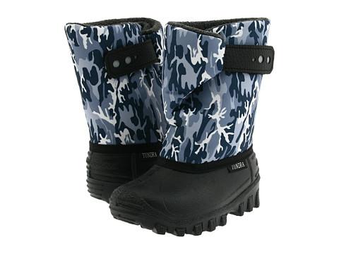Tundra Boots Kids Teddy 4 (Toddler/Little Kid) - Black/Grey Camo