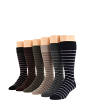 Ecco Socks - Horizontal Stripe Dress Socks 6-Pack