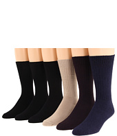 Ecco Socks - Casual Crew w/ Twisted Yarn Sock 6-Pack