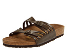 Birkenstock - Granada (Birko-Flor) (Golden Brown Birki-Flor ) - Footwear, Sandals, Womens Slides, Wide Fit, Wide Widths
