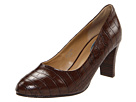 Fitzwell - Maiya (Brown Croco Synthetic) - Footwear, Dress Shoes, Womens, Wide Fit, Wide Widths
