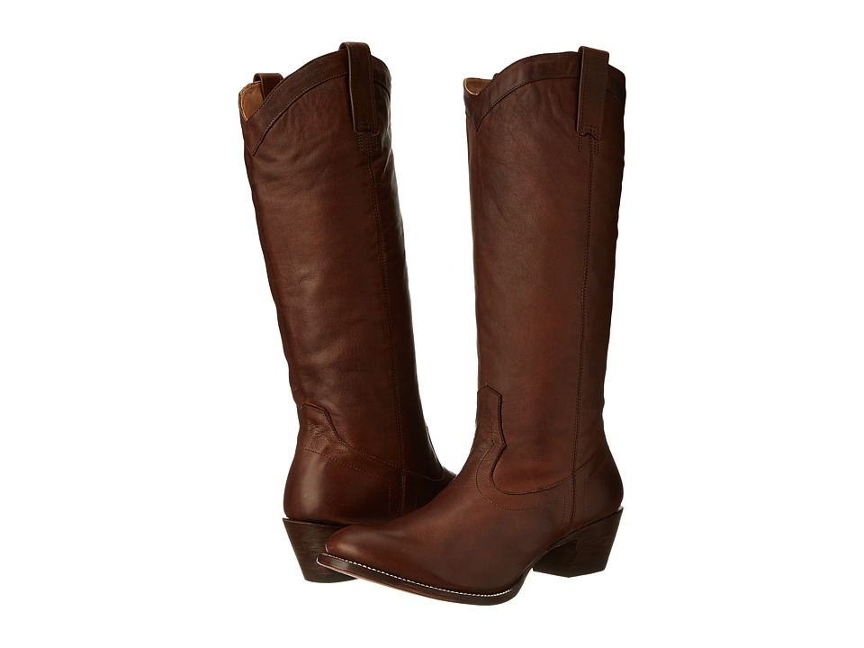 Stetson - 15 Rustic (Ficcini Brown) Cowboy Boots