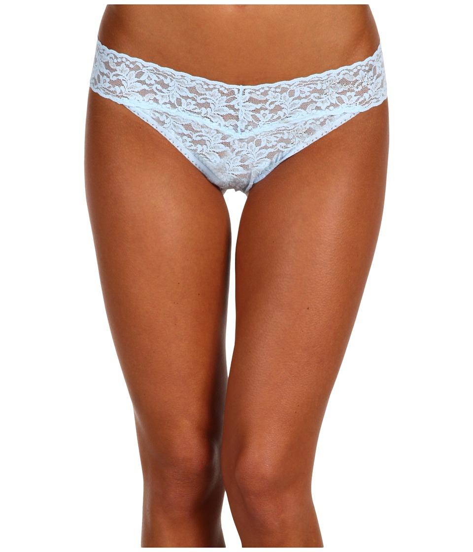 Hanky Panky - Bride Original Rise Bridal Thong (Powder Blue / Clear) Women's Underwear