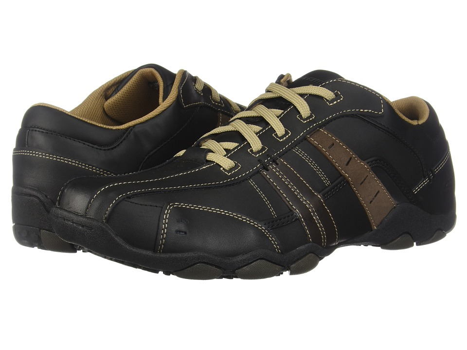 SKECHERS - Diameter-Vassell (Black/Tan) Mens Lace up casual Shoes