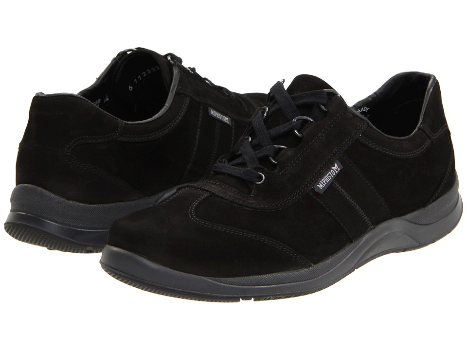 Mephisto - Laser (Black Nubuck) Womens Lace up casual Shoes