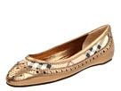 Burberry - Haymarket Brogue Ballerina (Gold) - Footwear