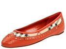 Burberry - Haymarket Brogue Ballerina (Tangerine) - Footwear