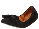Burberry - Suede Brogue Ballerina (Black Suede) - Footwear